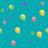 Teste padrão sem emenda do balão Foto de Stock Royalty Free