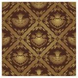 Teste padrão sem emenda do Batik do Javanese - floral Fotografia de Stock