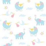 Teste padrão sem emenda do bebê Fotos de Stock Royalty Free