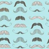 Teste padrão sem emenda do bigode Foto de Stock Royalty Free