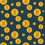 Teste padrão sem emenda do bitcoin ilustração stock