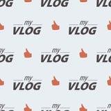 Teste padrão sem emenda do blogue video em um fundo claro ilustração do vetor