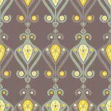 Teste padrão sem emenda do boho étnico Choque da mão Ornamento tradicional Fundo geométrico Motivo popular Fotos de Stock Royalty Free