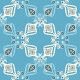 Teste padrão sem emenda do boho étnico Choque da mão Ornamento tradicional Fundo geométrico Motivo popular Imagem de Stock