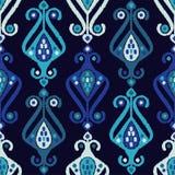 Teste padrão sem emenda do boho étnico Choque da mão Ornamento tradicional Fundo geométrico Motivo popular Imagem de Stock Royalty Free