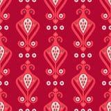 Teste padrão sem emenda do boho étnico Choque da mão Ornamento tradicional Fundo geométrico Motivo popular Fotografia de Stock Royalty Free