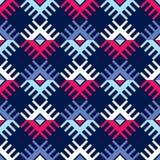 Teste padrão sem emenda do boho étnico Ornamento tradicional Fundo geométrico Teste padrão tribal Motivo popular Imagens de Stock