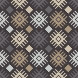 Teste padrão sem emenda do boho étnico Ornamento tradicional Fundo geométrico Teste padrão tribal Motivo popular Fotografia de Stock Royalty Free