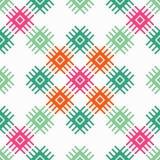 Teste padrão sem emenda do boho étnico Ornamento tradicional Fundo geométrico Teste padrão tribal Motivo popular Fotografia de Stock