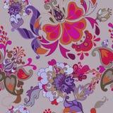 Teste padrão sem emenda do boho floral decorativo Imagem de Stock