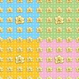Teste padrão sem emenda do botão de ouro Imagem de Stock Royalty Free
