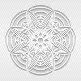 Teste padrão sem emenda do branco 3D Imagens de Stock Royalty Free