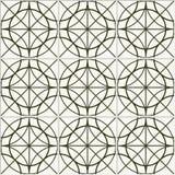 Teste padrão sem emenda do círculo Teste padrão da cerâmica Teste padrão telhado Imagens de Stock Royalty Free
