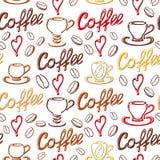 Teste padrão sem emenda do café Imagens de Stock Royalty Free