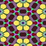 Teste padrão sem emenda do caleidoscópio da textura Ilustração Stock