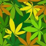 Teste padrão sem emenda do cannabis Fotos de Stock Royalty Free