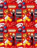 Teste padrão sem emenda do casino Fotografia de Stock