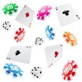 Teste padrão sem emenda do casino Fotos de Stock Royalty Free