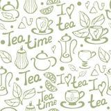 Teste padrão sem emenda do chá em um fundo branco Foto de Stock Royalty Free