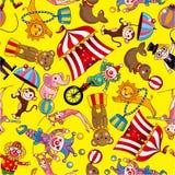 Teste padrão sem emenda do circo Imagens de Stock