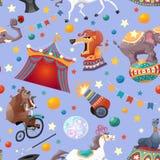 Teste padrão sem emenda do circo Fotografia de Stock Royalty Free