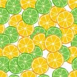 Teste padrão sem emenda do citrino Fotografia de Stock Royalty Free