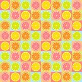 Teste padrão sem emenda do citrino ilustração do vetor