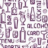 Teste padrão sem emenda do cocktail Imagem de Stock