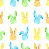 Teste padrão sem emenda do coelho da aquarela Feriados da Páscoa Para o projeto, o cartão, a cópia ou o fundo Fotografia de Stock Royalty Free