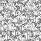 Teste padrão sem emenda do cogumelo Imagens de Stock