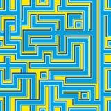 Teste padrão sem emenda do colorl abstrato que assemelha-se a um labirinto Fotografia de Stock
