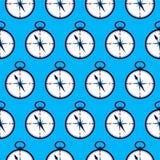 Teste padrão sem emenda do compasso azul Imagem de Stock