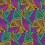 Teste padrão sem emenda do contraste com triângulos coloridos ilustração do vetor