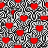 Teste padrão sem emenda do coração ilustração royalty free