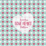 Teste padrão sem emenda do coração do amor na cor pastel romântica Ilustração do vetor ilustração do vetor