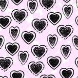 Teste padrão sem emenda do coração Borrões rosados Imagens de Stock