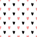 Teste padrão sem emenda do coração com forma criativa no estilo geométrico ilustração stock