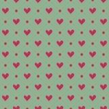 Teste padrão sem emenda do coração cor-de-rosa em um fundo claro Imagens de Stock