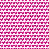Teste padrão sem emenda do coração cor-de-rosa para o dia de Valentim feliz Foto de Stock Royalty Free