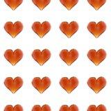 teste padrão sem emenda do coração da gema da ilustração 3d Fundo do dia do ` s do Valentim Imagens de Stock