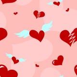 Teste padrão sem emenda do coração do amor ilustração do vetor