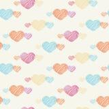 Teste padrão sem emenda do coração no fundo claro Foto de Stock Royalty Free