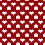 Teste padrão sem emenda do coração para o cartão do dia de Valentim Imagem de Stock