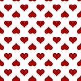 Teste padrão sem emenda do coração para o cartão do dia de Valentim Imagens de Stock