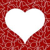 Teste padrão sem emenda do coração para o cartão do dia de Valentim Foto de Stock