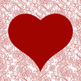 Teste padrão sem emenda do coração para o cartão do dia de Valentim Imagens de Stock Royalty Free