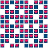 Teste padrão sem emenda do coração Vetor romântico do fundo Imagem de Stock