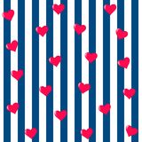 Teste padrão sem emenda do coração Vetor romântico do fundo ilustração royalty free
