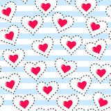 Teste padrão sem emenda do coração Vetor romântico do fundo Imagens de Stock Royalty Free