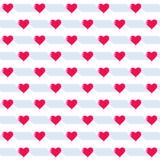 Teste padrão sem emenda do coração Vetor romântico do fundo Fotos de Stock
